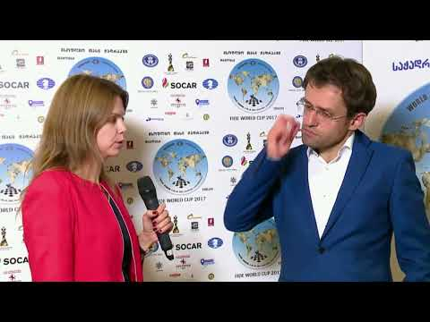 FIDE World Chess Cup 2017 Interview with Levon Aronian - Final Game 1