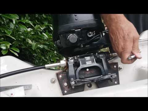 FITTING A TELEFLEX STEERING SYSTEM TO A MERCURY/ MARINER 15HP OUTBOARD IN A 10 FOOT DORY
