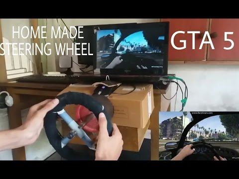 GTA 5 Homemade Steering Wheel | Driving Simulator