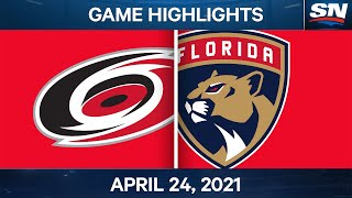 NHL Game Highlights   Hurricanes vs. Panthers – Apr. 24, 2021
