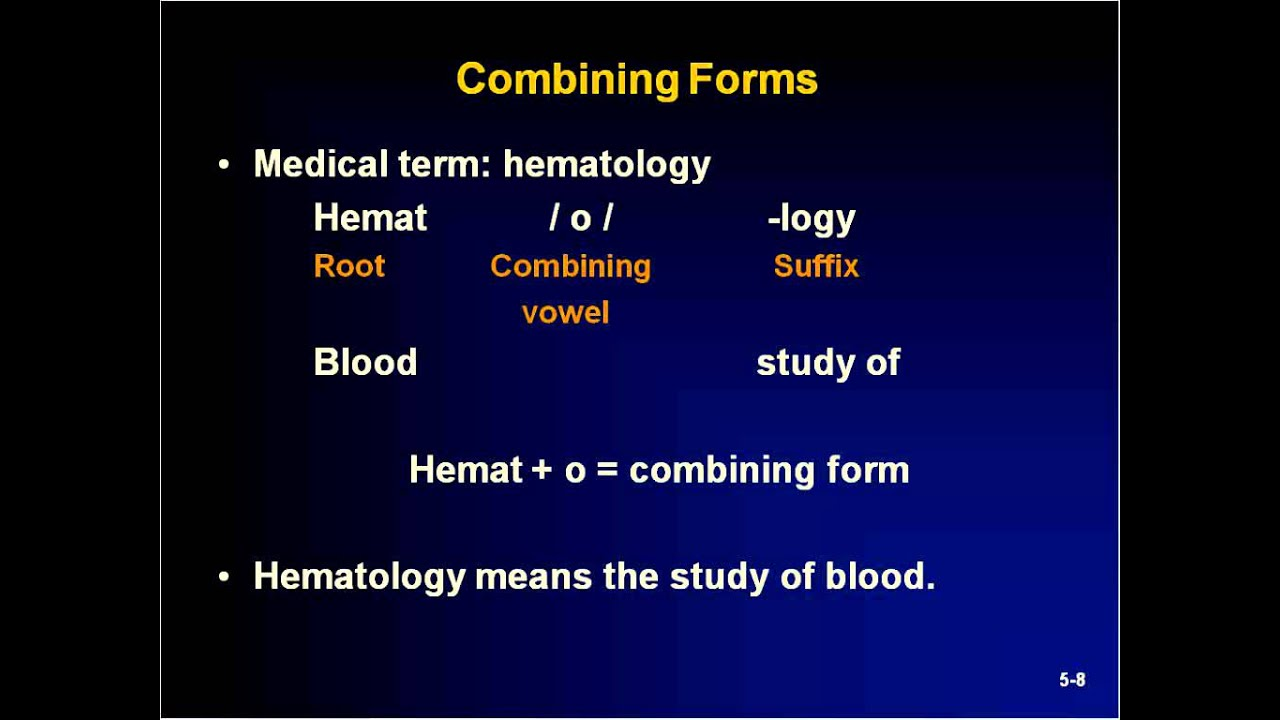Medical Terminology For Ems