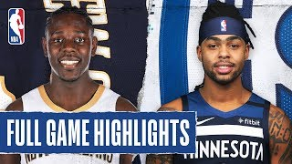 Gambar cover PELICANS at TIMBERWOLVES | FULL GAME HIGHLIGHTS | March 8, 2020