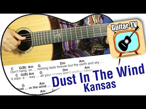 DUST IN THE WIND - Kansas, Cover-Intro-Tutorial • Easy Lesson! • Lyrics • Chords • Play Along