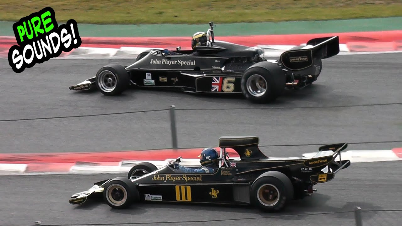 Lotus Formula 1 Sound   John Player Special Lotus 76 & 77 - YouTube