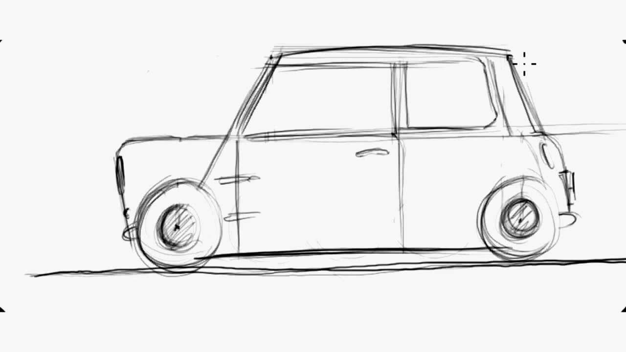 motion n style how to draw a classic mini [ 1280 x 720 Pixel ]