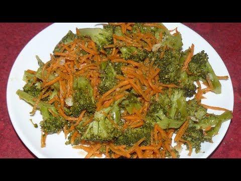 Брокколи по-корейски. Вкусно, даже если не любите брокколи.