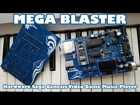 Mega Blaster - Hardware Sega Genesis Video Game Music Player
