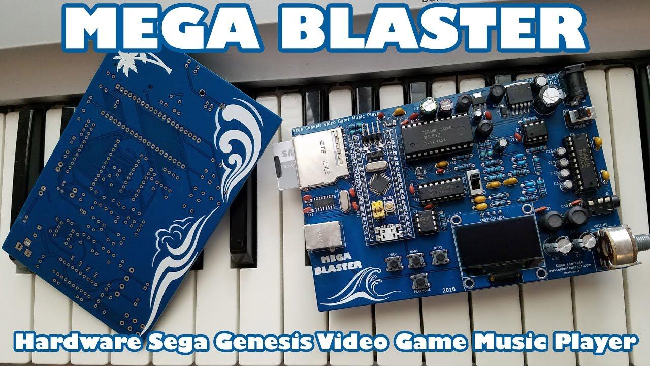 Mega Blaster - Hardware Sega Genesis Video Game Music Player