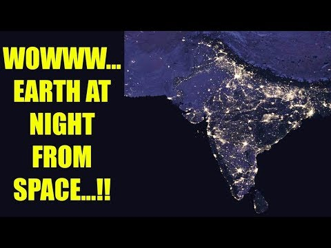 NASA releases images of INDIA as visible from space at night.