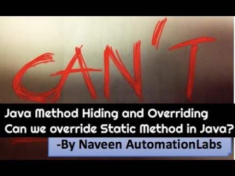Can We Override A Static Method In Child Class? || Famous Interview Question