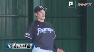ファイターズ・吉田輝がブルペンに!!
