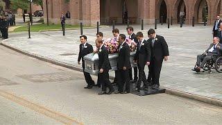 Former U.S. Presidents attend Barbara Bush's funeral in Texas