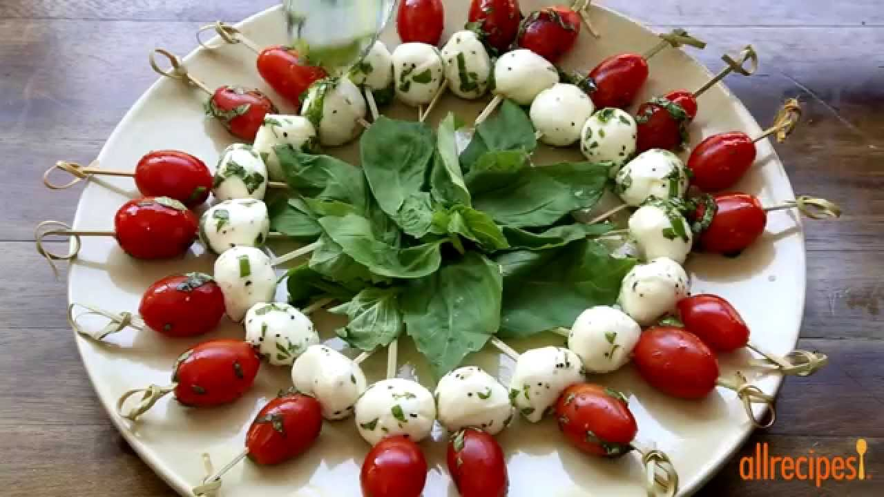 How to Make Caprese Appetizer | Appetizer Recipes | Allrecipes.com - YouTube