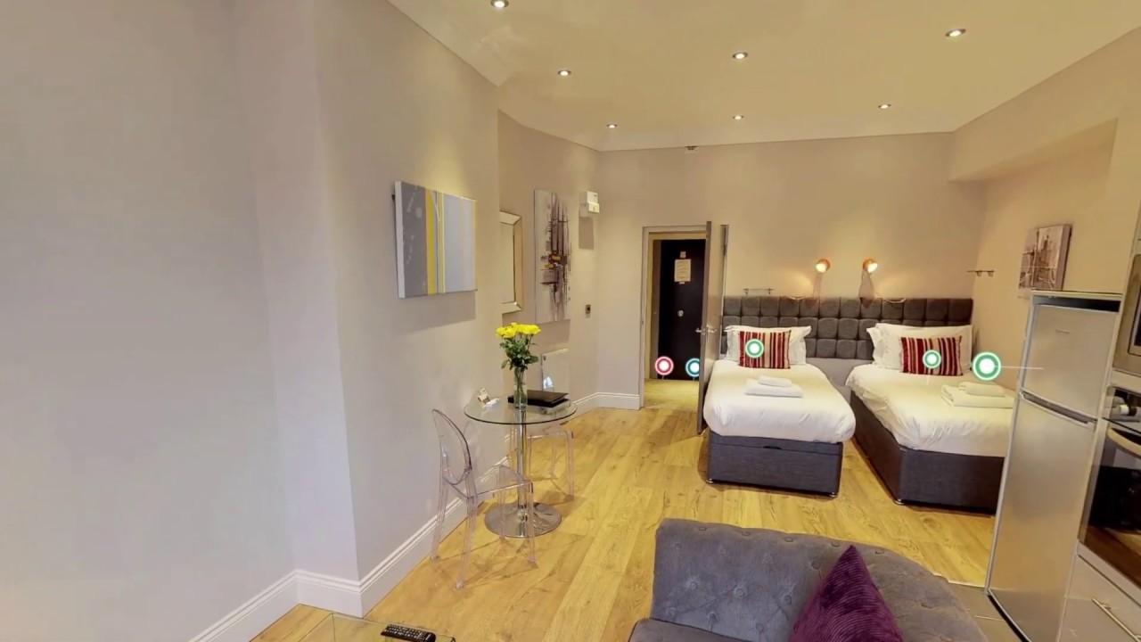 Harrogate Lifestyle Apartments 3d Virtual Tour Luxury Studio 1 Bathroom Apartment Sleeps 2 Youtube
