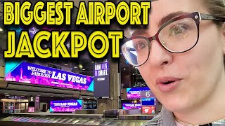 My BIGGEST Slot Machine JACKPOT HANDPAY at Las Vegas Airport!