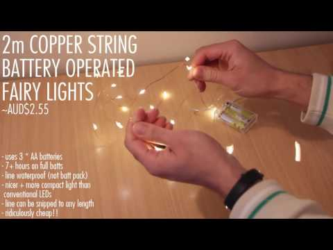 Warm White 3*AA Battery Operated Led String Lights