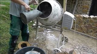 Mixing mortar for cordwood construction