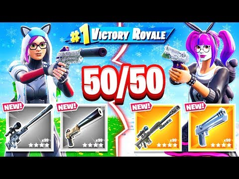 RANDOM Loot 50/50 CHALLENGE *NEW* Game Mode in Fortnite Battle Royale