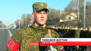 В Благовещенске прошла первая репетиция военного парада
