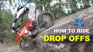 HOW TO DO DROP OFFS & SHORT STEEP DESCENTS ON A DIRT BIKE thumbnail