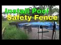 Install Pool Safety Fence Dewalt Hammer Drill Guide