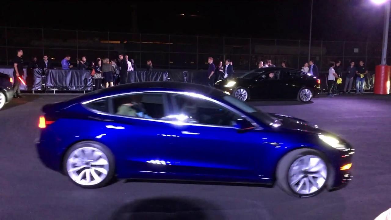 Tesla Model 3 Color Driveby