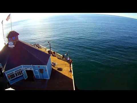 Hubsan H501s X4 Professional drone flight Imperial Beach Pier