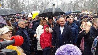 Президент Молдовы Игорь Додон на празднике Масленицы 18.02.2018