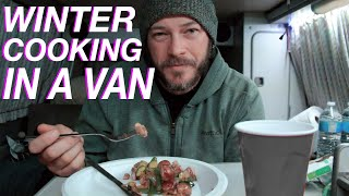 Winter Cooking In a Van - Living The Van Life