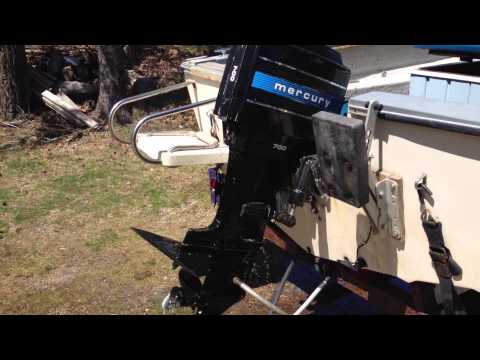 Mercury 70HP Outboard startup