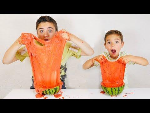 ON FABRIQUE DU SLIME PASTQUE ! - Recette Facile & Rapide - Watermelon Slime