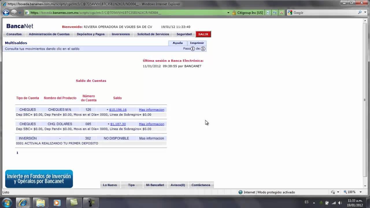 Banamex: YouTube