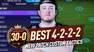 *NEW PATCH* HOW TO GO 30-0! BEST 4222 PRO PLAYER CUSTOM TACTICS AND INSTRUCTIONS! #FIFA21 #COACHING