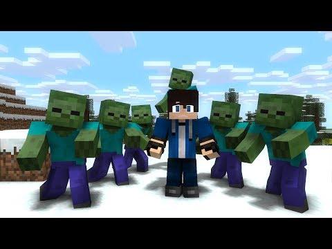 هجوم الزومبي انميشن ماين كرافت | Zombie Attack Minecraft animation