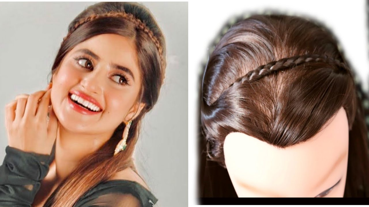 Beautiful And Simple Hairstyle For Sajal Aly Pakistani Actor Cute Sajal Aly Partys Hairstyle Youtube