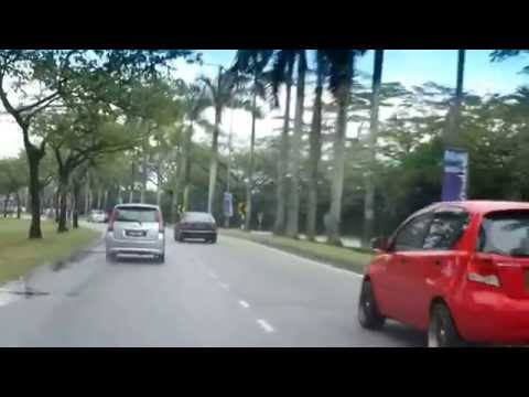 Driving to work in Malaysia