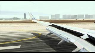 Fs2004: Los Angeles Crosswind Landing [HD]
