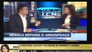 IEDM - Les compagnies forestières et GreenPeace - Jasmin Guénette
