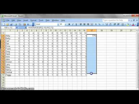 Simple Data Analysis for Teachers Using Excel