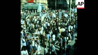 SYND 26 10 74 ANTI US DEMONSTRATION BY NICOSIA STUDENTS