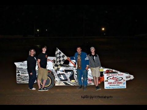 2015 Jackson County Speedway AMRA Modifieds Keith Bills wins, Larry Holbrook 2nd