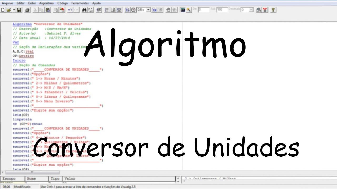 Algoritmo Conversor De Unidades