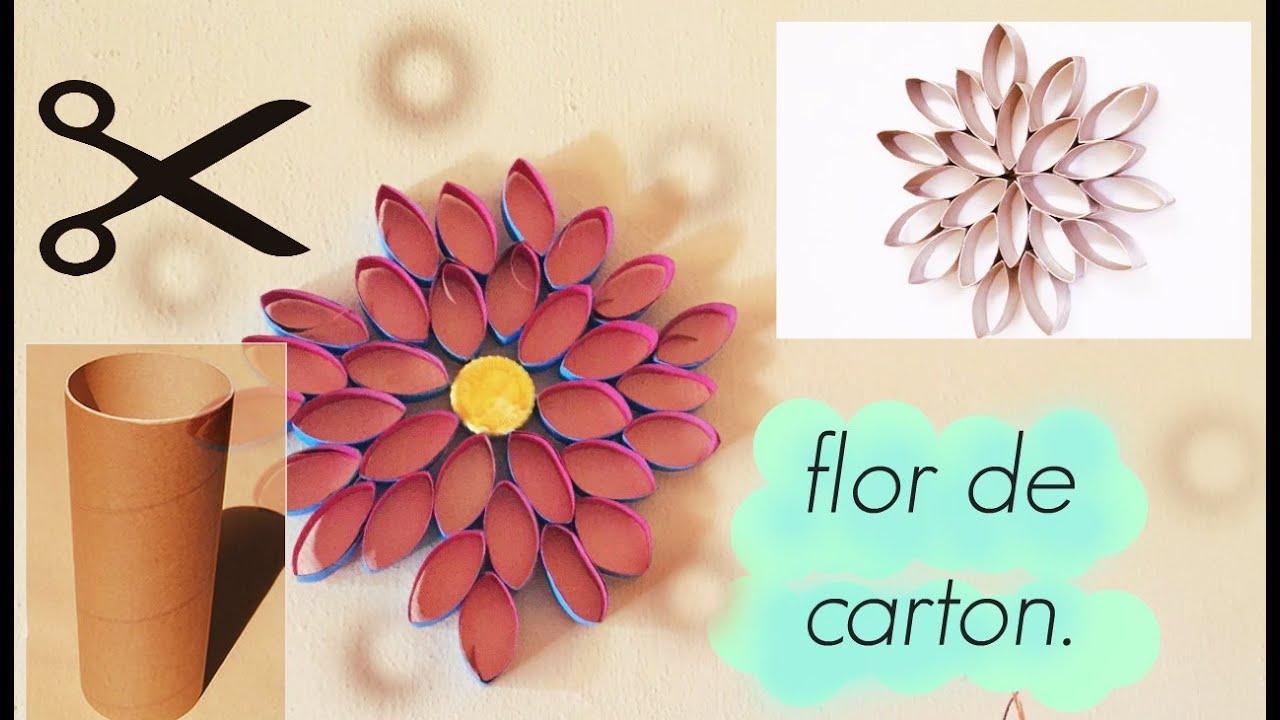 Haz flores con tubos de papel higi nico muy facil youtube for Accesorios para bano papel higienico