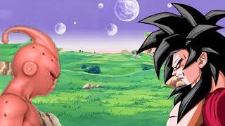SSJ4 Goku vs Kid Buu