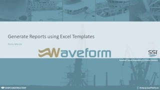 Generate Reports using Excel Templates
