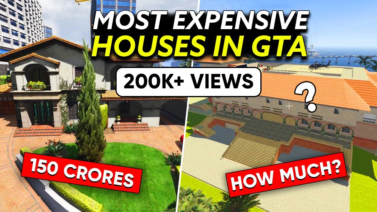 7 MOST EXPENSIVE SAFEHOUSES of GTA Characters in GTA Series