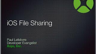 iOS File Sharing using iTunes