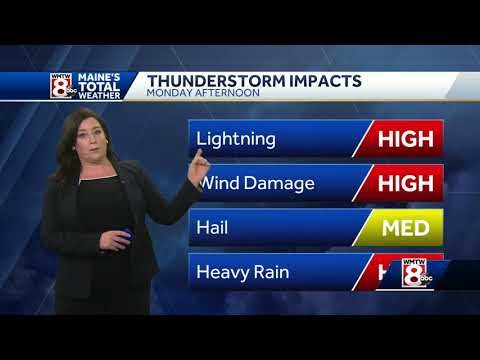Heat advisory Monday, we'll be tracking strong storms