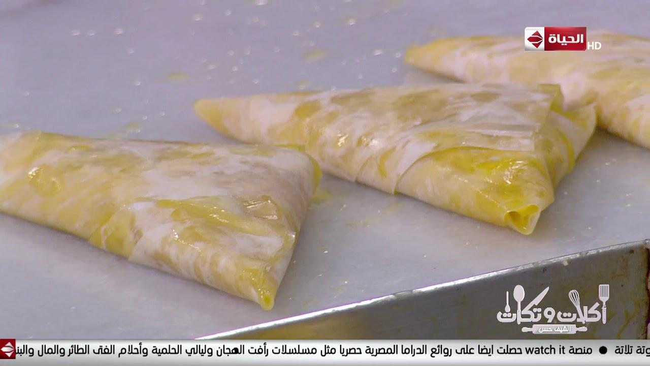 أكلات وتكات -على طريقة الشيف حسن حشو ( جلاش البسبوسة - جلاش الكنافة )