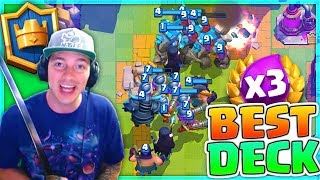 """5.8 CLASH ROYALE 3X ELIXIR DECK!"" BEST TRIPLE ELIXIR DECK!"
